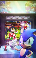 Official sonic the hedgehog 271 variant cover by elesis knight-d8r6pra