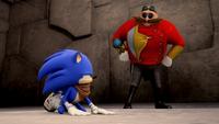 SB S1E22 Sonic down Eggman proud