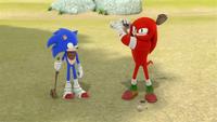 SB S1E13 Sonic Knuckles swing