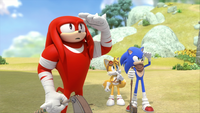 SB S1E13 Knuckles Tails Sonic watch