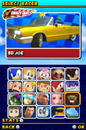 Sonic and Sega All Stars Racing DS character select 15