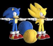 Forces Model Sonic Super Sonic