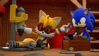 SB S1E24 Tails Sonic workshop