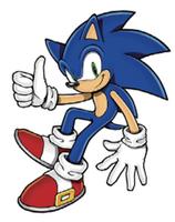 Sonic 2D art thumbs up