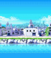 Windmill Isle - Day Background (Mobile)