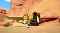 SB S1E12 Tails plane canyon