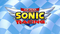 Team Sonic Racing logo flag background