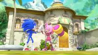 SB S1E24 Sonic Amy high five
