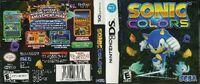 Sonic Colors DS US foil