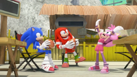 SB S1E43 Amy losing it Sonic Knuckles