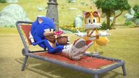 SB S1E13 Sonic Tails waiting