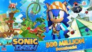 SonicDash500MillionDownloadsAlt1