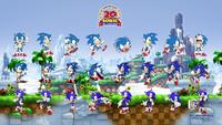 Sonic 20th wallpaper GHZ Sonics