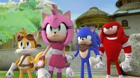 S2E11 Sonic Tails Amy and Knuckles