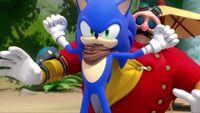 SB S1E23 Sonic shrug Eggman