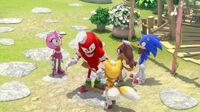 SB S1E27 Team Sonic turn around Knuckles