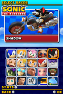 Sonic and Sega All Stars Racing DS character select 05