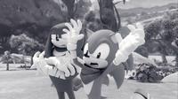 SB S1E10 Knuckles Sonic flashback