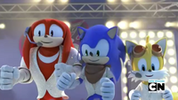 SB S1E39 Knuckles Sonic Tails sing