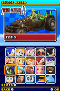 Sonic and Sega All Stars Racing DS character select 11