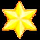 TSR Yellow 6 point star