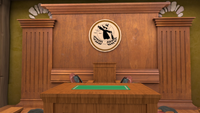 S1E17 Judge podium