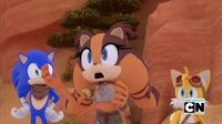 SB S1E21 Sonic Tails Sticks sing