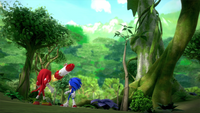 SB S1E25 Knuckles Sonic missile
