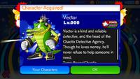 Sonic Runners Vector unlocked