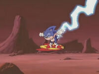 Sonic tail hit