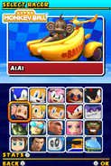 Sonic and Sega All Stars Racing DS character select 06