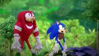 SB S1E25 Knuckles Sonic shocked