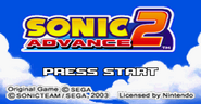 Sonic Advance 2 title