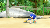 SB S1E19 Sonic battle stance volleyball net