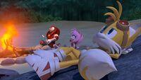 S1E14 Knuckles Amy Tails stargaze