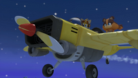 S1E17 Tails fly plane night