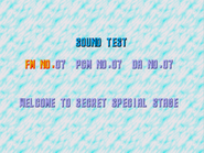 SCD Secret special stage (sound test)