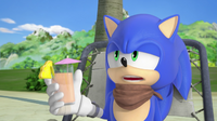 Sonic holding drink