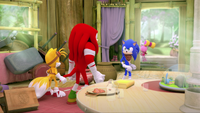 SB S1E50 Tails Knuckles Sonic regret