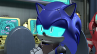 Cyborg Sonic arms crossed