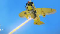 SB S1E12 Tails plane laser-guided unbolterizer fire far