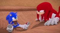 SB S1E21 Sonic Knuckles mistake