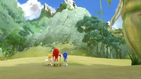 SB S1E13 Tails Knuckles Sonic gold mountain