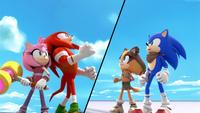 SB S1E18 Team Sonic split screen