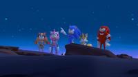SB S1E14 Team Sonic crater night