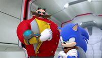 SB S1E26 Eggman Sonic surprise