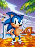 Sonic 1 US promotinal art