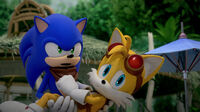 SB S1E50 Tails cower Sonic