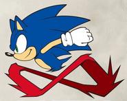 Sonic 2D art Super Peel Out