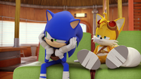 SB S1E01 Sonic Tails annoyed